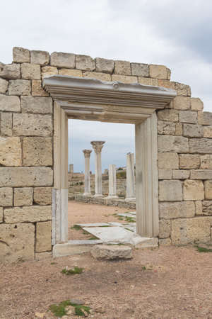 polis: the ruins of the ancient Greek polis Chersonese in Sevastopol, Crimea