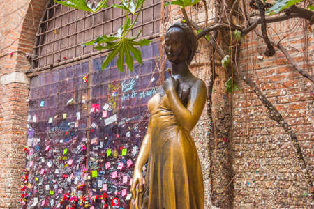 VERONA, ITALY - March 07, 2017: A monument to Shakespeare's literary heroine Juliet