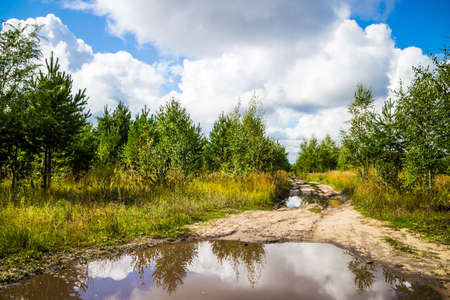 abolished: dirt roads in Russia after the rain