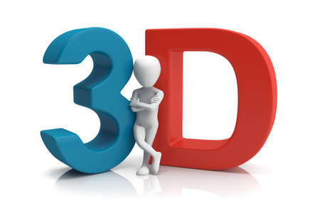 3D human  3d image  On a white background
