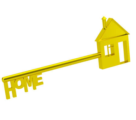 The key to my house  3d image  On a white background