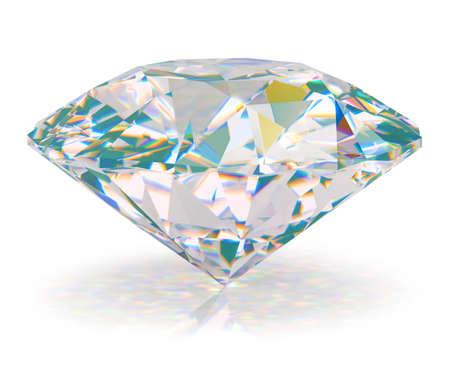 Diamond. 3d beeld. Op een witte achtergrond.
