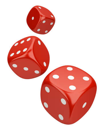 Dice. 3d image. On a white background. Stock Photo