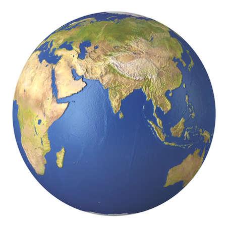 Planeet Aarde. 3d beeld. Op een witte achtergrond. Stockfoto - 18232761