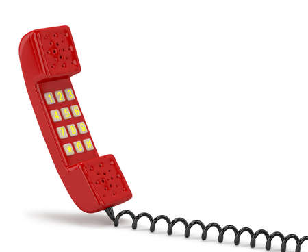 Handset  3D image  On a white background