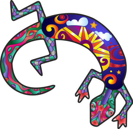 Kokopelli lizard Illustration