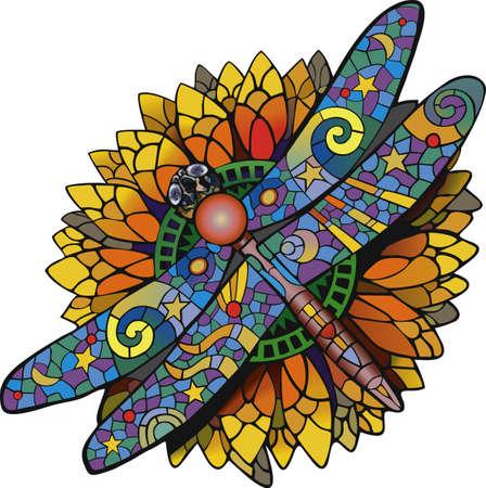Sunflower dragonfly