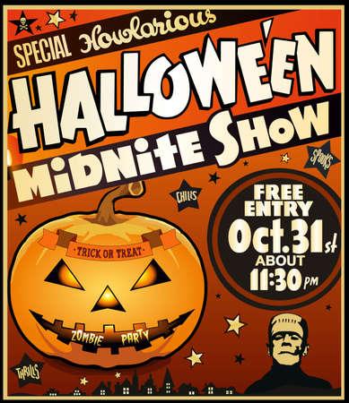 Halloween paty paper poster Ilustração
