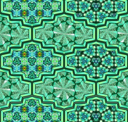 Arabic  mosque saint ornamental tiles stylized for Ramadan
