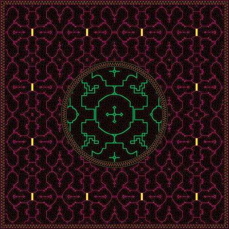 3 of 12 Shipibo Conibo artwork patterns HD set