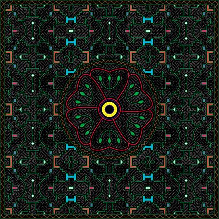 4 of 12 Shipibo Conibo artwork patterns HD set