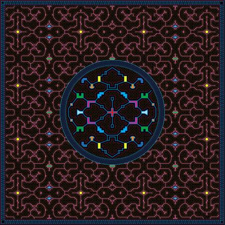 5 of 12 Shipibo Conibo artwork patterns HD set