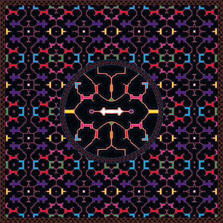 6 of 12 Shipibo Conibo artwork patterns HD set Ilustração