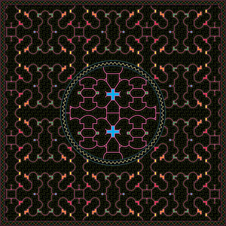 7 of 12 Shipibo Conibo artwork patterns HD set
