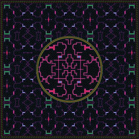 8 of 12 Shipibo Conibo artwork patterns HD set