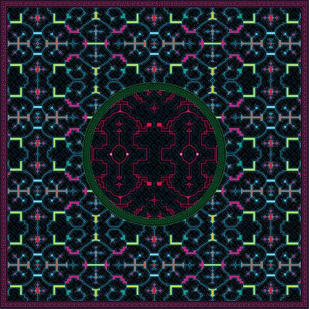 10 of 12 Shipibo Conibo artwork patterns HD set Ilustração