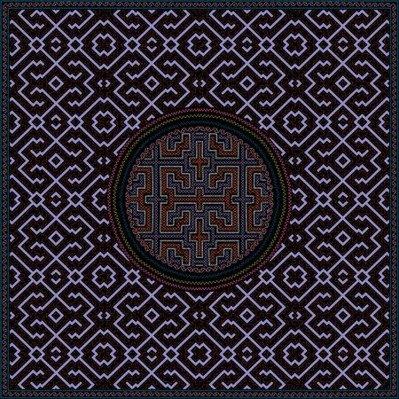 11 of 12 Shipibo Conibo artwork patterns HD set Ilustração