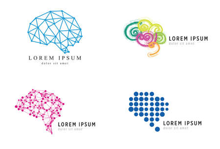 psycho social: Business Brain Icons Set