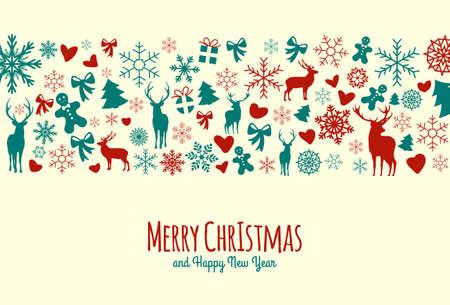 Beautiful Vintage Christmas Background Vector Illustration