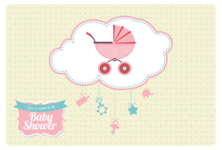 farther: Sweet Baby Shower Invitation Card Design