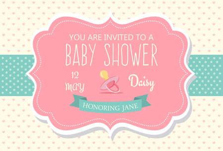 farther: Baby Shower Invitation Card Design Illustration