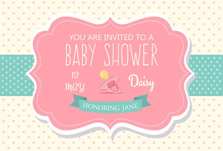 Design di carta di invito per doccia per bambini