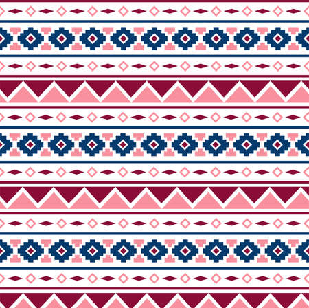 psychic: Vector Seamless Tribal Pattern for Textile Design