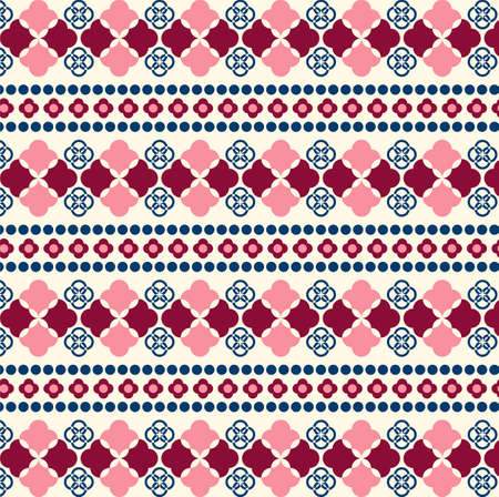 disorient: Vector Seamless Tribal Pattern for Textile Design