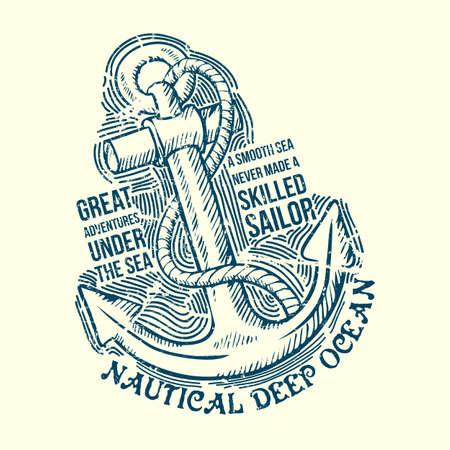 Anchor Sailor Tee Design