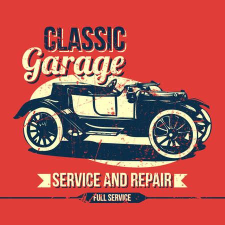 garage: Vintage Classic Garage Design