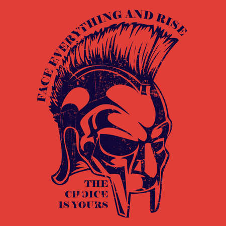 Spartan Helmet Gladiator, legionnaire heroic soldier