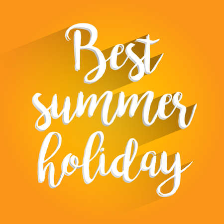 summer holiday: Best Summer Holiday Lettering Design