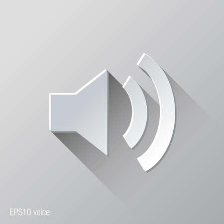 speakers: Speakers Voice Flat Icon Design