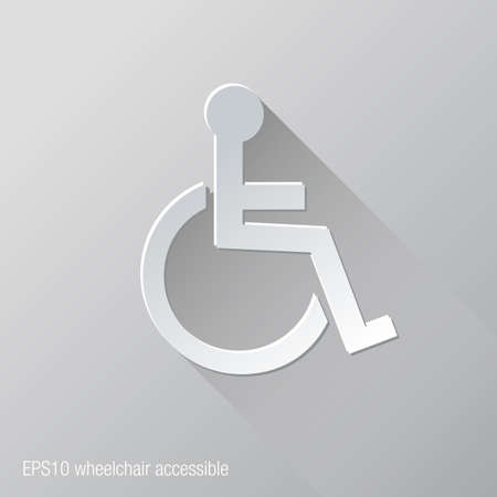 accessible: Wheelchair Accessible Flat Icon Design Illustration