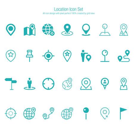 location icon set 일러스트
