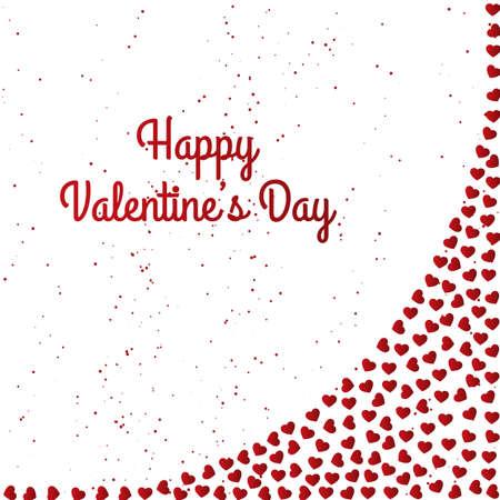 Happy Valentines Day Card Design Illustration