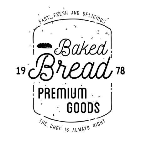 bakery label 일러스트