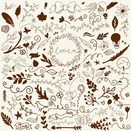 Hand Drawn Vector Decoration Collection