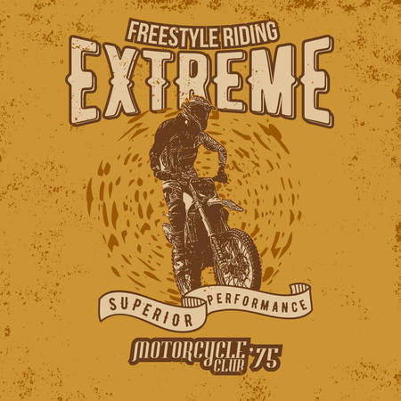 Legend Racers Vintage Motorcycles T-Shirt Design 일러스트