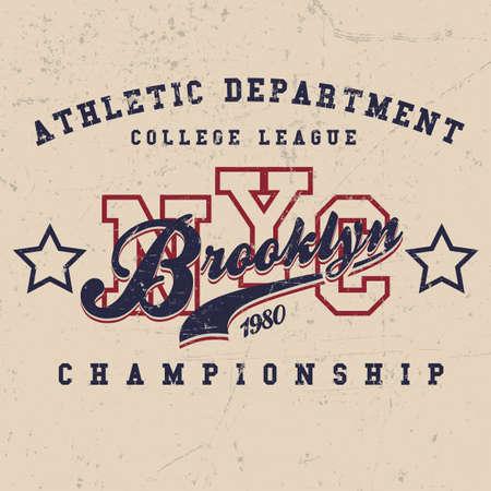 Sport Wear Vintage New York City T-shirt Design, Typography Athletics
