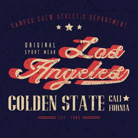 Sport Wear Vintage Los Angeles T-shirts Graphic Design, Typography Athletics.