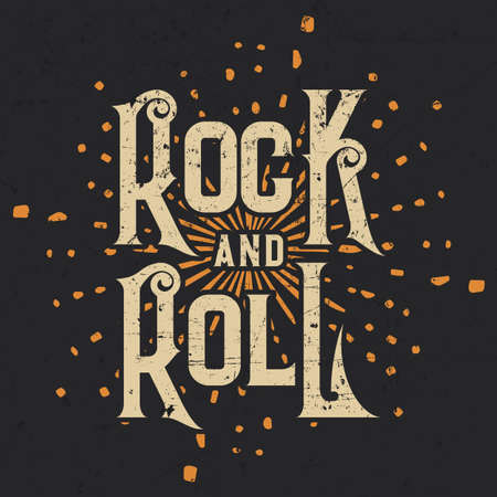 Rock and Roll Graphic Designer T-shirts, Vector Illustration.