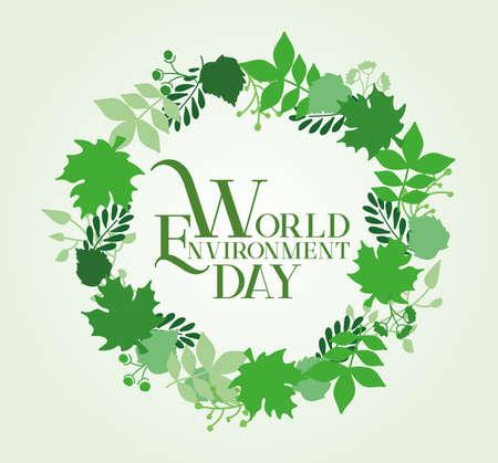 World Environment Day Card Design. Vector Illustration