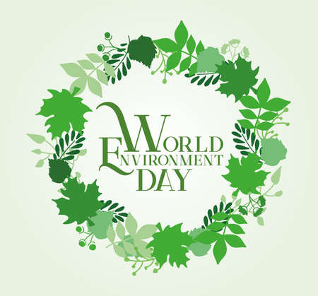World Environment Day Card Design. Vector Illustration