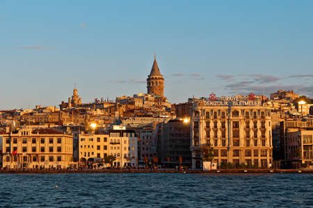 Historical Galata Tower in Istanbul, Turkey.