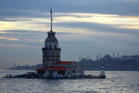 Maiden's Tower in Istanbul, Turkey.