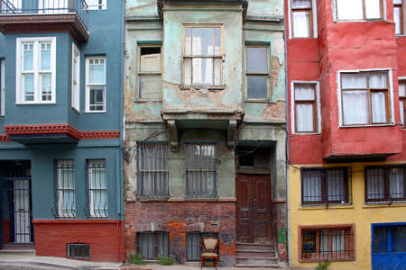 Old and Colorful city in Istanbul, Turkey.