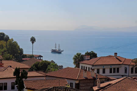 Historical old city Kaleici in Antalya, Turkey.