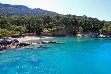 Oludeniz Beach in Fethiye, Mugla. 版權商用圖片