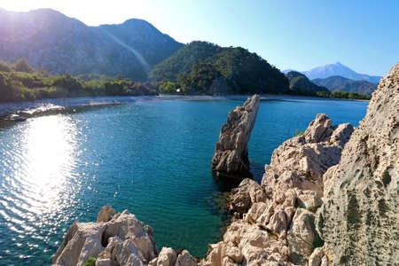 Olympos Beach at the Lycian Coast in Antalya. 版權商用圖片